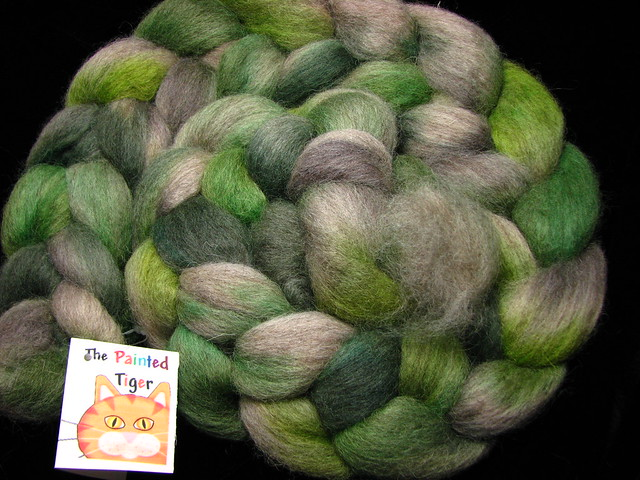Sea Urchin - Masham Wool Combed Top February Tiger Club 2016