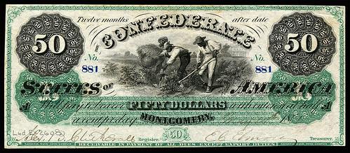 1861 Confederate $50 bill