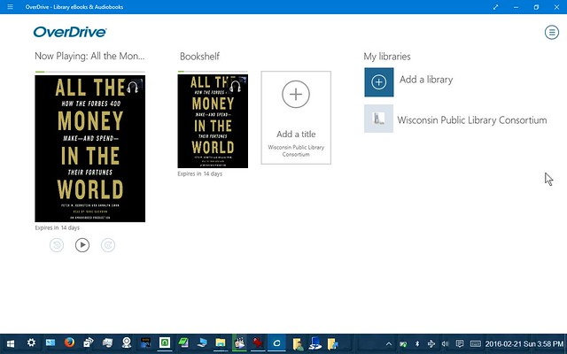 Using OverDrive for Windows on a Windows 10 Tablet