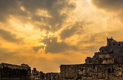 Golconda Fort in Sunset