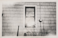 Blurry view of a house window