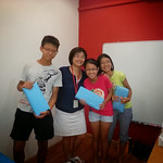 Happy Students being rewarded for achieving top scores