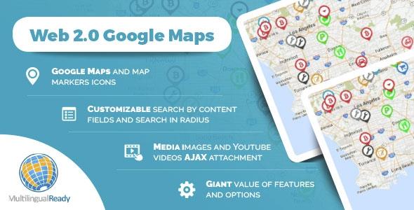 CodeCanyon Web 2.0 Google Maps plugin for WordPress v1.0.0