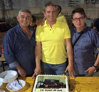 Il Pres. Giovanni Saffi (al centro) con il vice presidente Ladisa (destra) e il Ds Sanapo (sinistra)