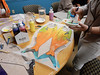 Wind Sock Painting for Anacostia River Festival