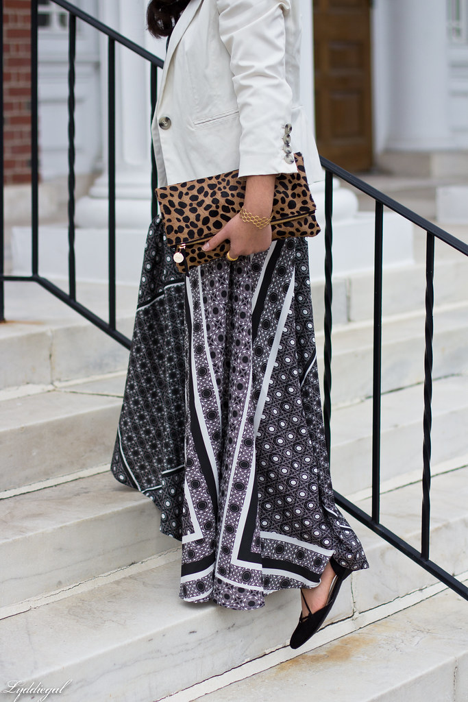 printed maxi dress, white blazer, leopard clutch-3.jpg