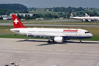 "Swissair Airbus A320-214 HB-IJE ""Dübendorf""  ""The Qualiflyer Group"" livery"