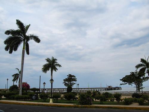 Granada: le ponton d'où partait le ferry pour l'île de Ometepe. Mais l'eau du lac est désormais trop basse...