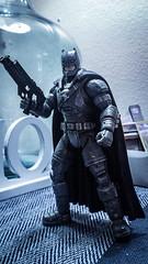 Batman vs superman armored up.