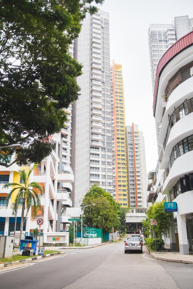 Colourful architecture in Singapore