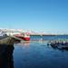 Reykjavík harbor and Mt. Esja