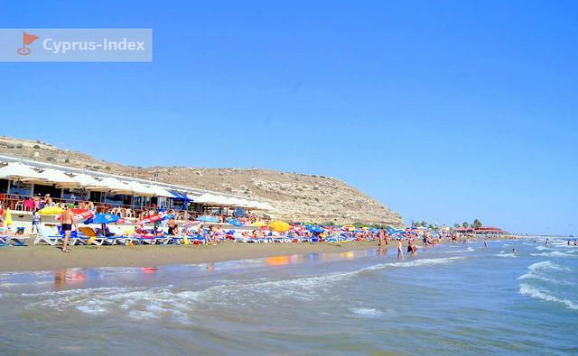 Пляж Курион. Лимассол. Пляжи Кипра.