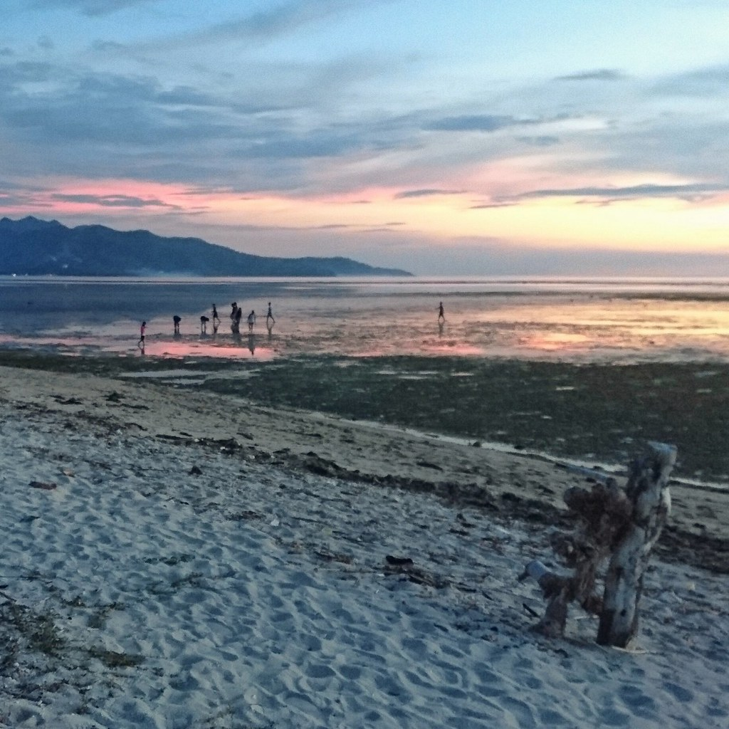 auringonlasku, Gili Air, Indonesia