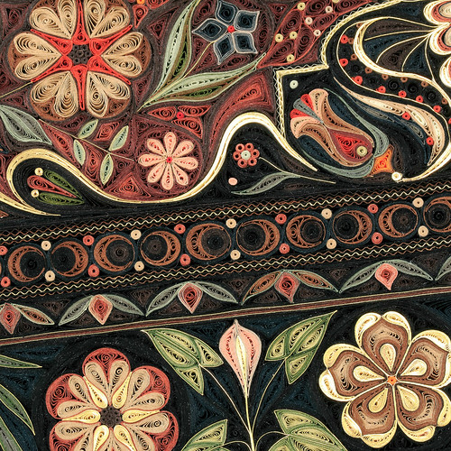 Jardin by Paper Artist Lisa Nilsson - Border Detail
