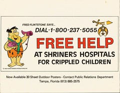 Fred Flintstone for Shriners Hospitals, 1985