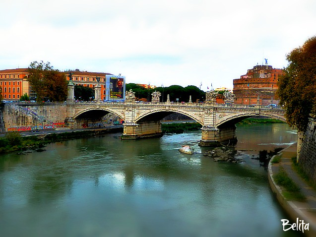 "Bridge - Rome - Ponte Sant'Angelo – ""Bridge of Angels"" ..."