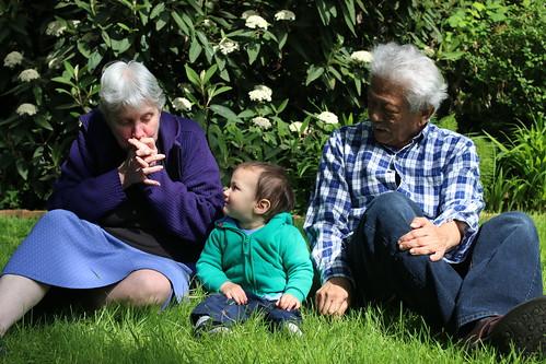 Keiki with Grandma & Grandpa
