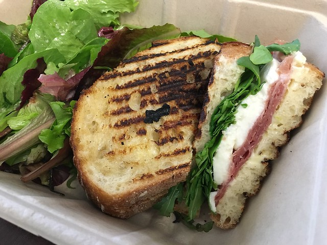 Prosciutto and mozzarella panini - Boxed Foods Company