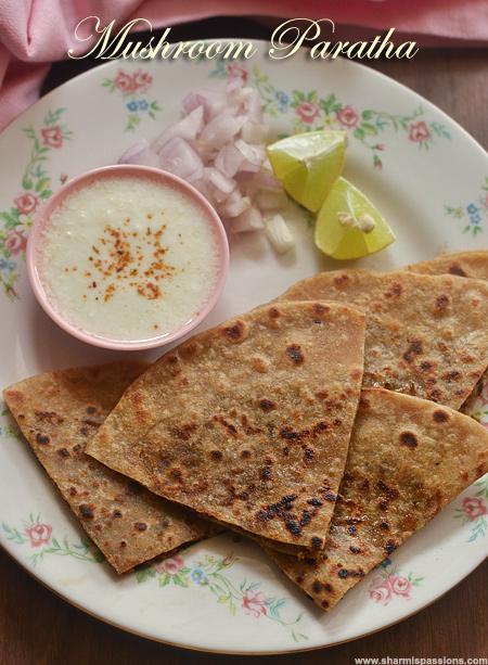 Mushroom Paratha Recipe