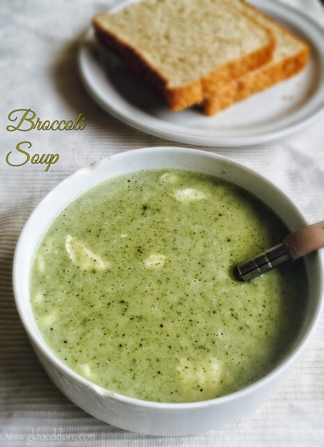 Broccoli Soup Recipe for Toddlers and Kids