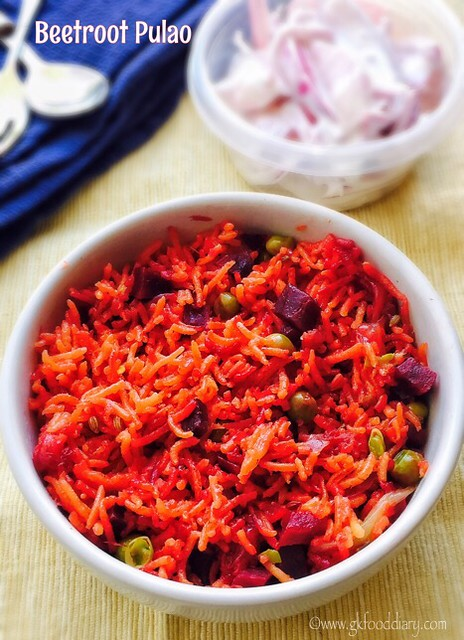 Beetroot Pulao Recipe for Babies, Toddlers and Kids1