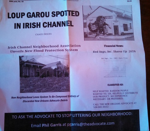 Loup Garou Spotted in Irish Channel