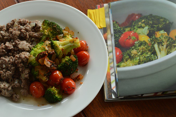 Greek broccoli and lamb mince