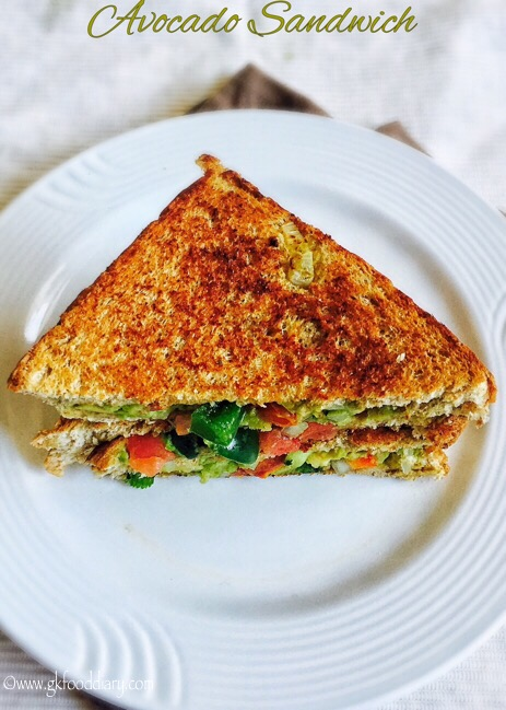 Avocado Sandwich Recipe For Toddlers And Kids Guacamole Sandwich