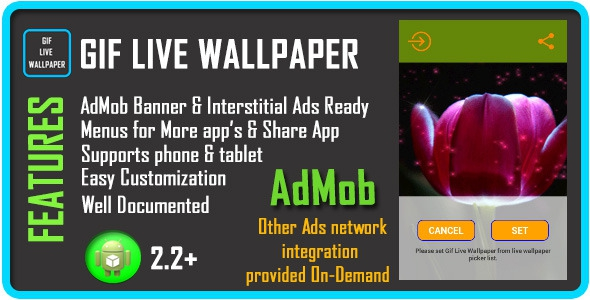 CodeCanyon GIF Live Wallpaper with AdMob v1.0