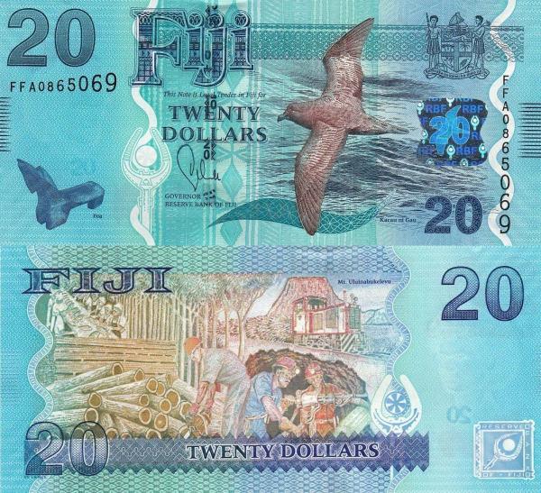 20 Dolárov Fidži 2013, P117 UNC