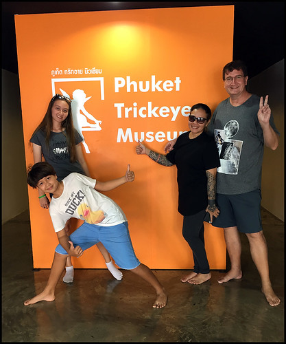 Family at the Phuket Trickeye Museum