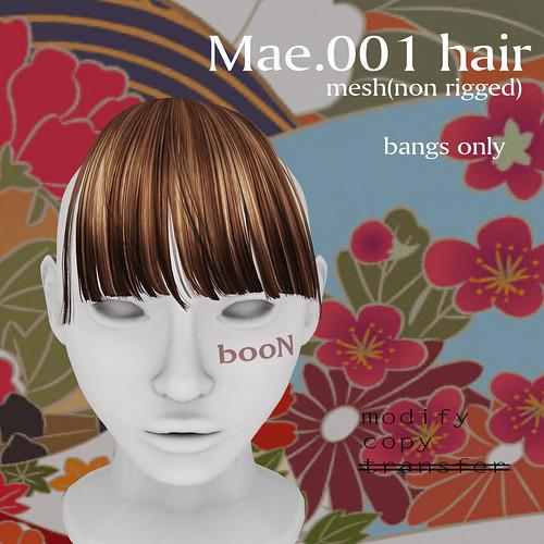 booN Mae.001 hair
