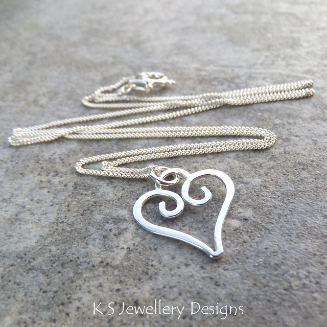 Sterling Silver Wire Heart Charm Pendant