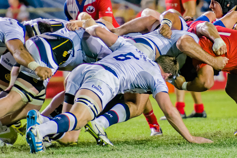 USA Flanker set in the scrum during Americas Rugby Championship #USAvCHL