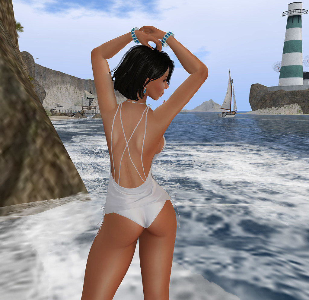 Escape to a tranquil ocean, Blueberry clothing, Oceane skin