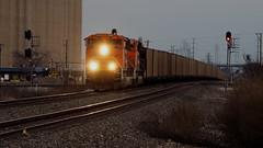 Westbound Coal Empty crossing Saginaw Interlocking