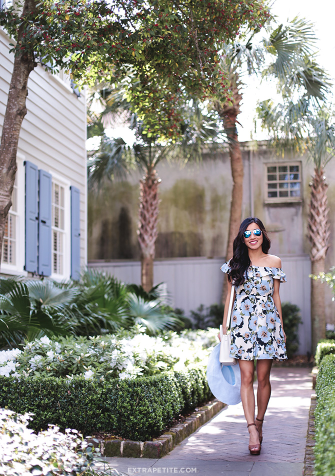 blue floral dress petite fashion south carolina charleston