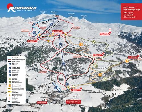 Reinswald - mapa sjezdovek