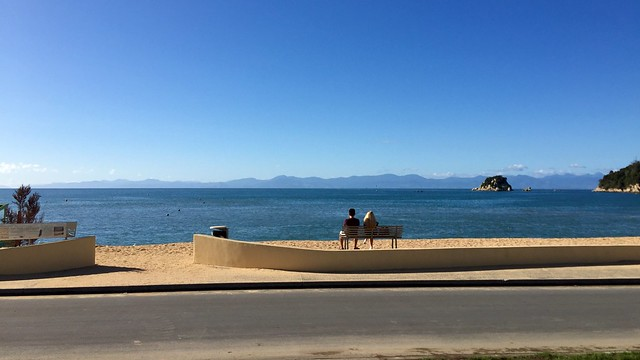 View from the beach cafe at Kaiteriteri.