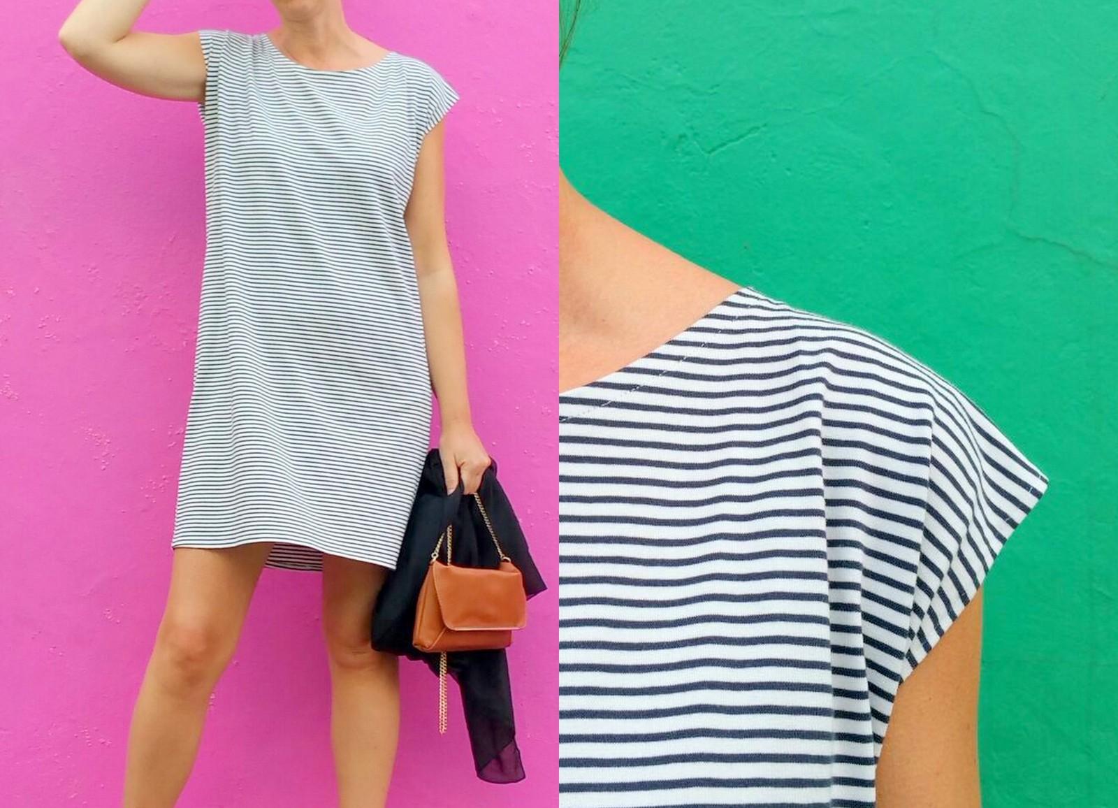 striped T-shirt dress (collage1)