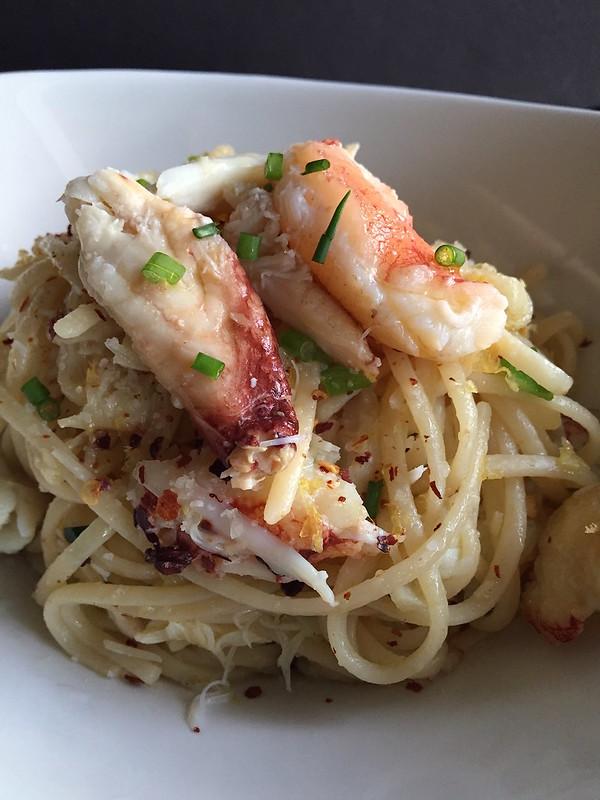Spaghetti Aglio e Olio with Dungeness Crab 2