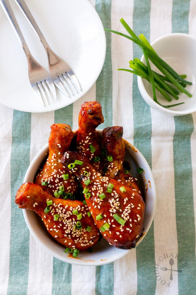 Baked Spicy Korean Chicken Drumsticks