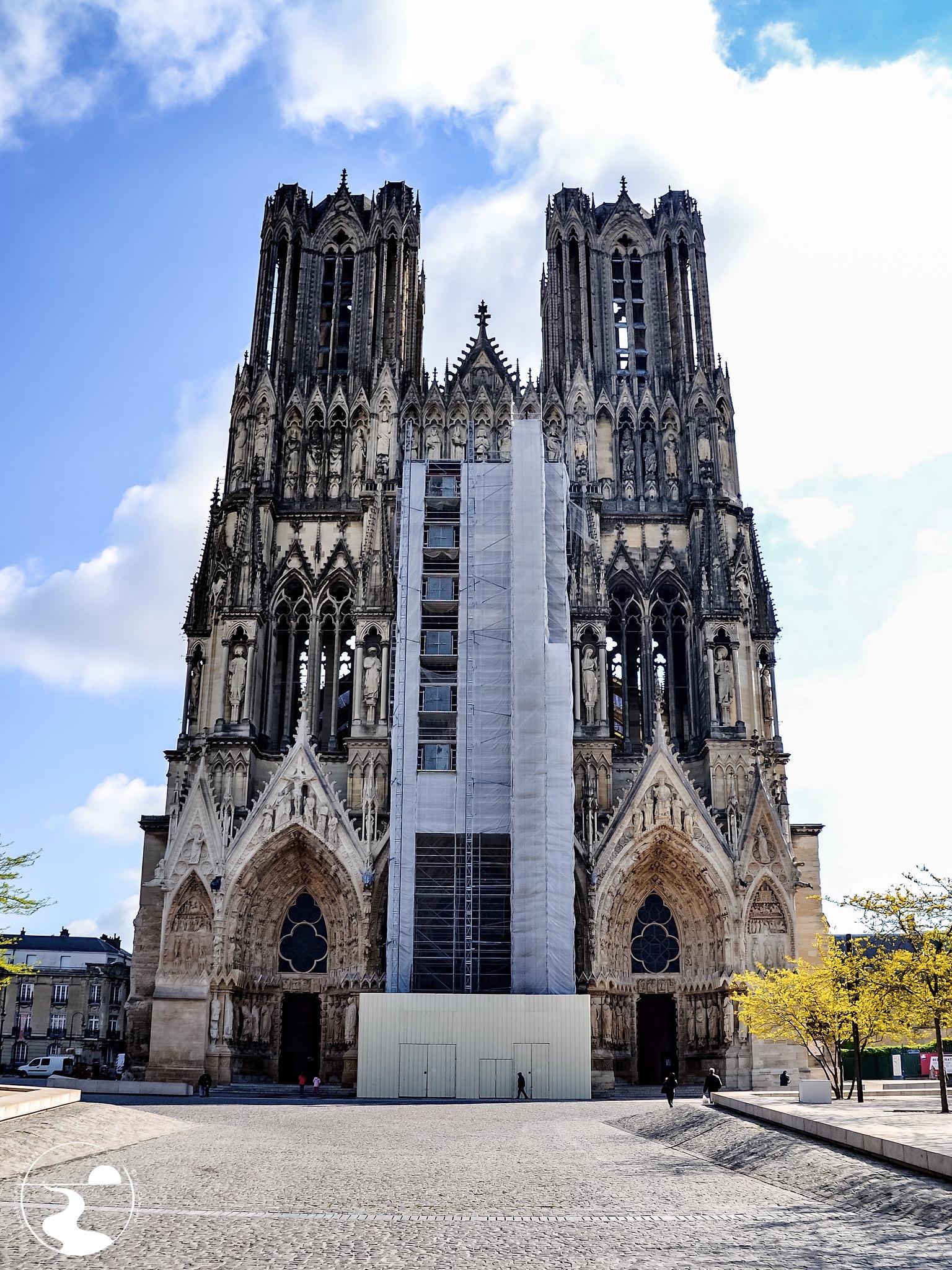 Fachada de la catedral de Reims