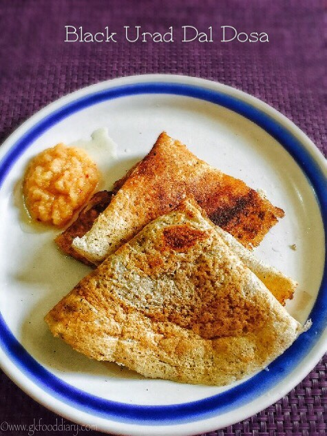 Black urad dal Dosa Recipe for Toddlers and Kids1