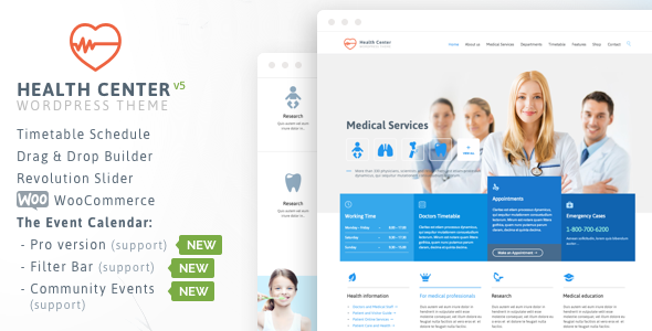 Health Medical v15 – Theme for Health and Medical Center Dentist