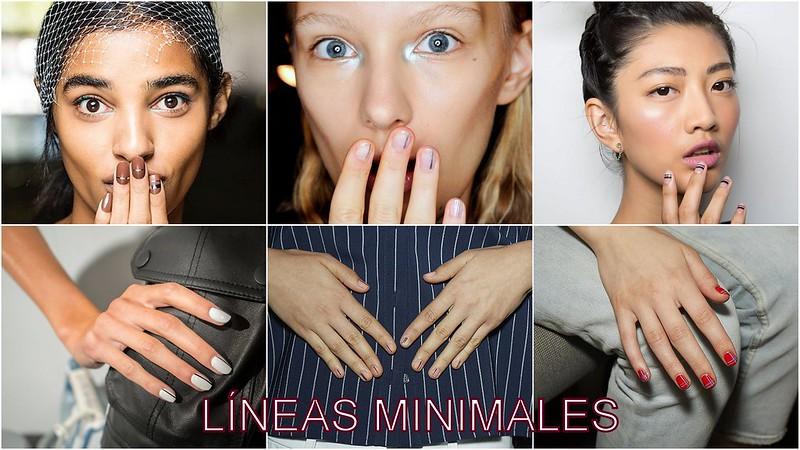 Tendencias de uñas: líneas Minimales