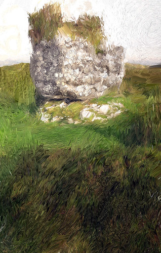 Stone in Irish prehistoric site and painted in Psyko Paint