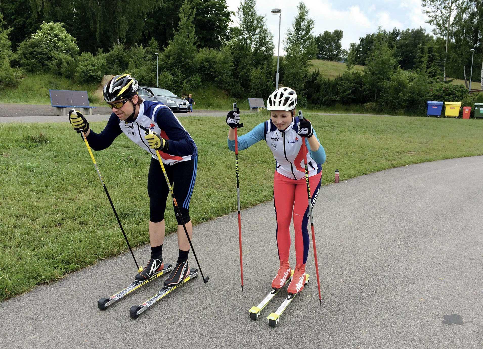 Test kolečkových lyží na klasiku 2015