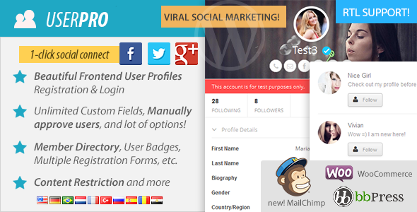 UserPro v4.9 - User Profiles with Social Login