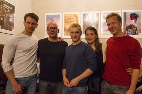 CE16 – guest dinner // Vladimir Burlakov (actor, Brother and Sister), Florian v. Koerner Gustorf (producer, Brother and Sister), Julius Nitschkoff (actor, Brother and Sister), Irina Potapenko (actress, Brother and Sister), Jan Krüger (director, Brother an